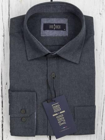 Koszula męska model DARK- zielononiebieska
