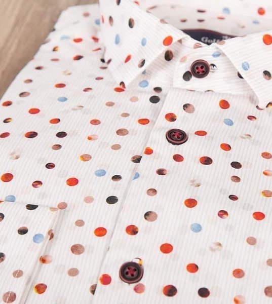 Męska koszula w kropki z długim rękawem