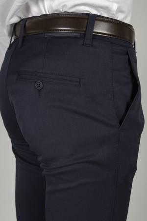 Męskie spodnie 7600 granatowe - duże rozmiary
