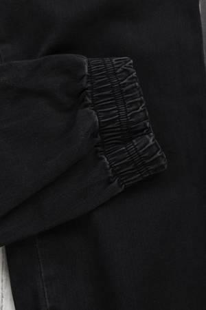Męskie spodnie joggery czarne klasyczne