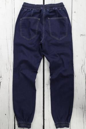 Męskie spodnie joggery granatowe klasyczne