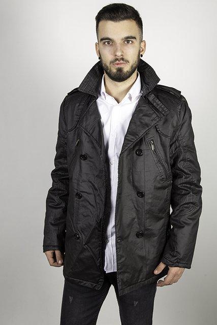 Płaszcz Laid-Back, przejściowy, czarny.