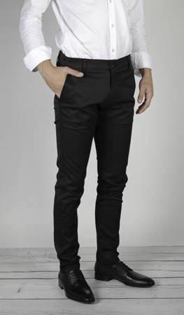 Spodnie męskie typu chino 7653 Czarne