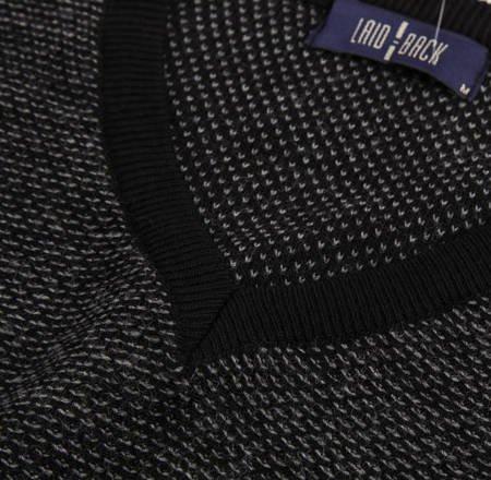 Sweter męski klasyczny Laid-Back 3185 Czarny