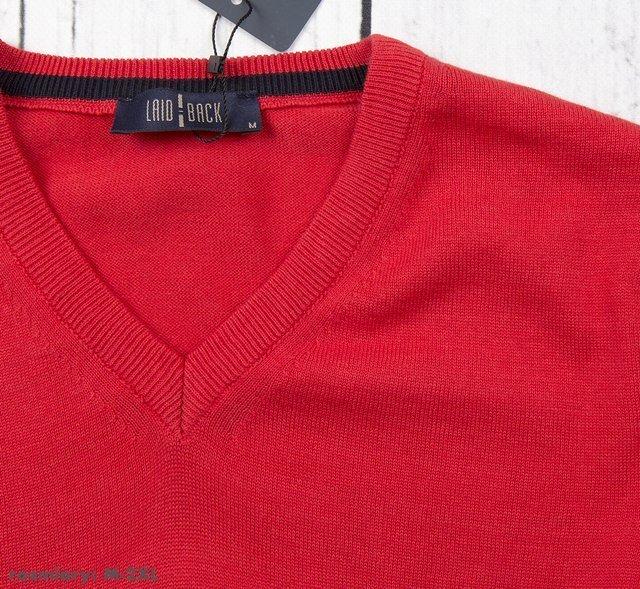 Sweter męski klasyczny Laid-Back - czerwony